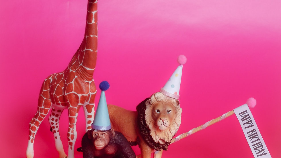 Cake Topper Party Animals - Wild Life Edition