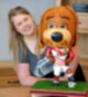 Doncaster Rovers Donny Dog Mascot Cake -