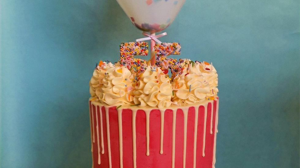 Pastel Cake Balloon Topper
