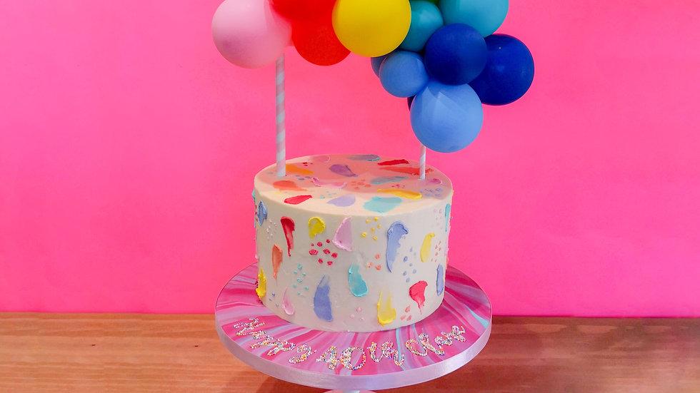 Spotty Dotty Rainbow Balloon Cake