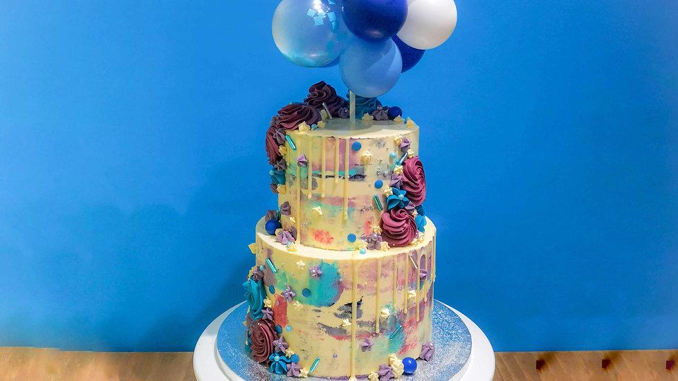 Abstract Balloon Cake
