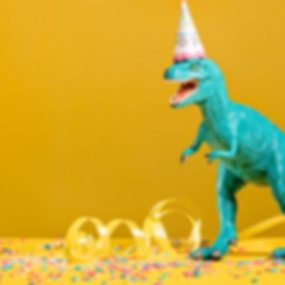 Party Dinosaur Cake Topper