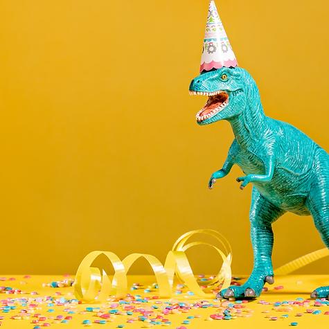 Party Dinosaur Cake Topper