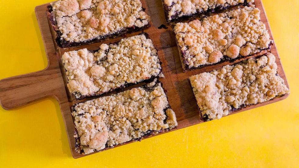 Goldilocks - Triple layer vegan flapjack brownies