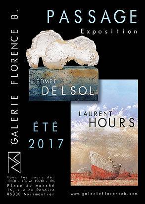 Edmée Delsol Sculpture Laurent Hours Peinture Galerie Noirmoutier en L'Ile