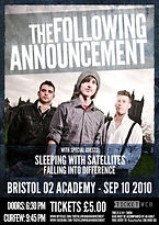 The Following Announcement TFA Bristol o2 Academy Gig Tour Show