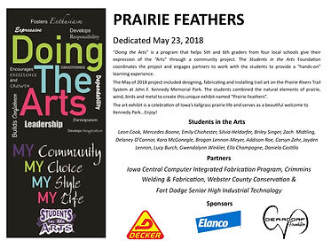Prairie Feathers Sign at Kennedy DTA May