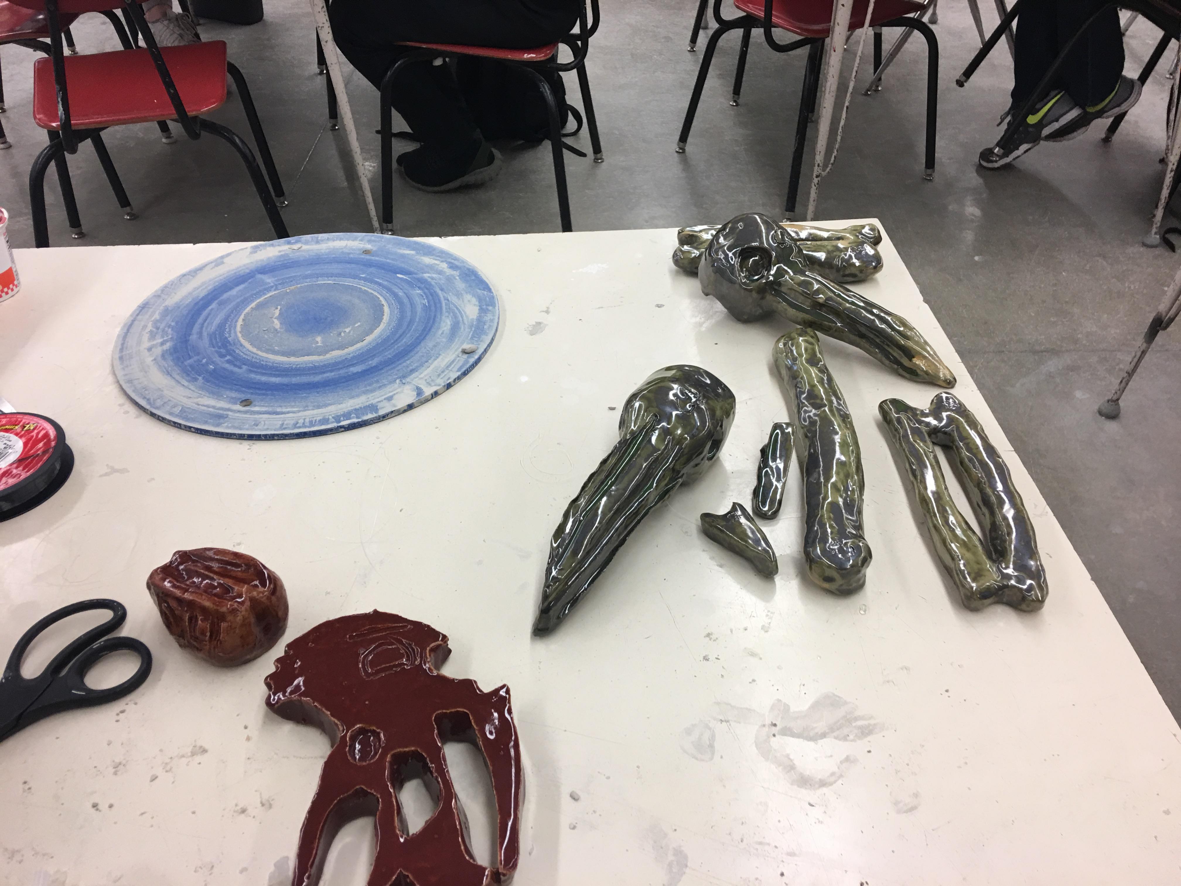 FDSH Ceramic Art Dept Dinasour Bones