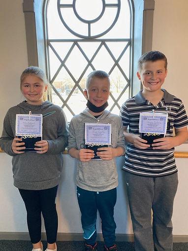 St Thomas Middle School Zoie, Max, Grays