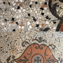 Before and After Terrazzo repairs to a b