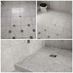 Carrara Bathroom Floor