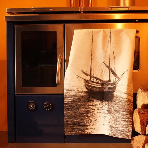 Newlyn Boat Tea Towel