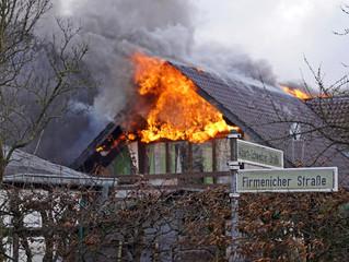 Wohnhaus ausgebrannt