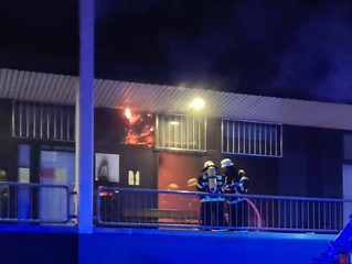 Feuer am Ring-Center in Euskirchen