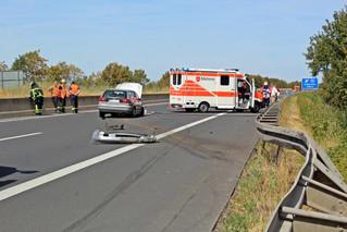 Auffahrunfall auf der Bundesautobahn 1 bei Wißkirchen