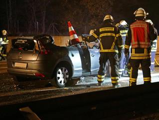 Falschfahrer verursacht schweren Unfall auf der A1