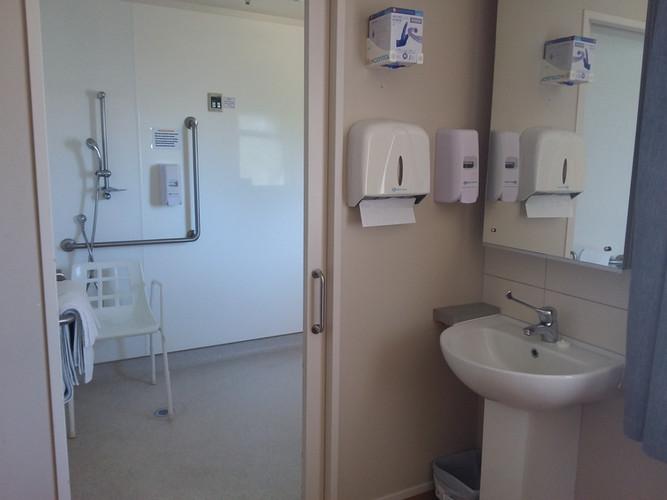 Hospital room ensuite area
