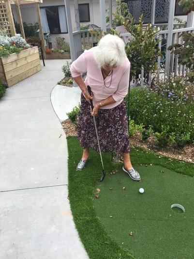 Golf action shot!