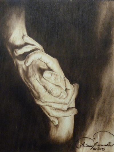 Abbraccio di mani