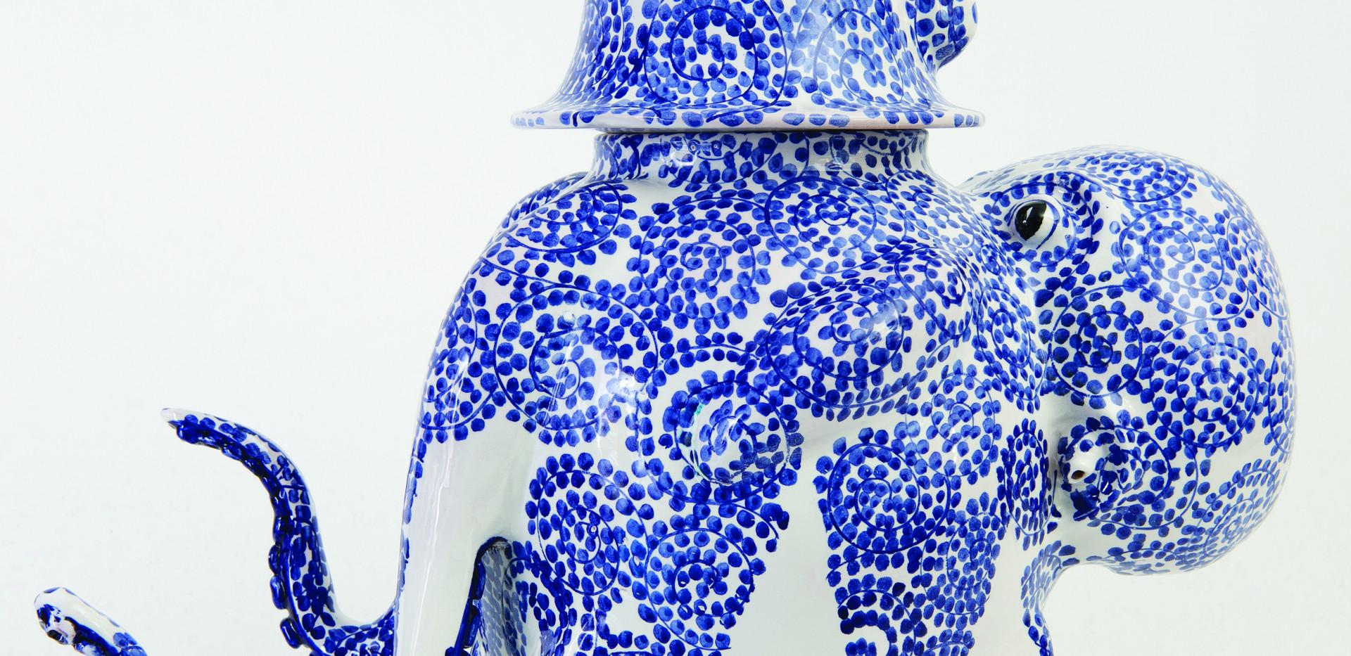 Octopus blue ink