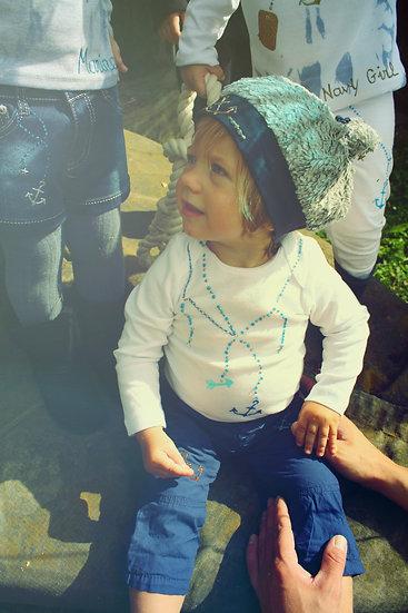 bonnet blue marine bling
