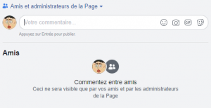 Private comments on Facebook