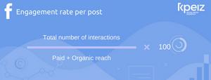 calculation formulat of facebook engagement rate