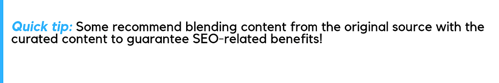 content curation and seo