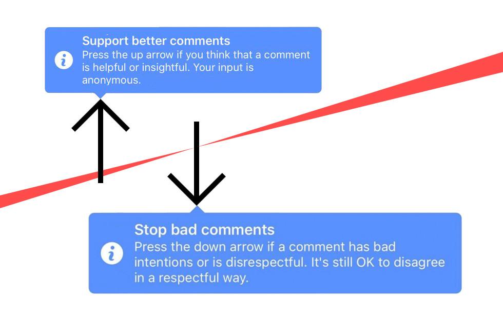 Facebook update comment raking