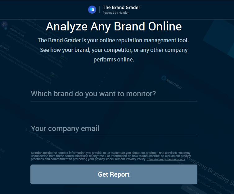 free tool brand analyzer brand grader