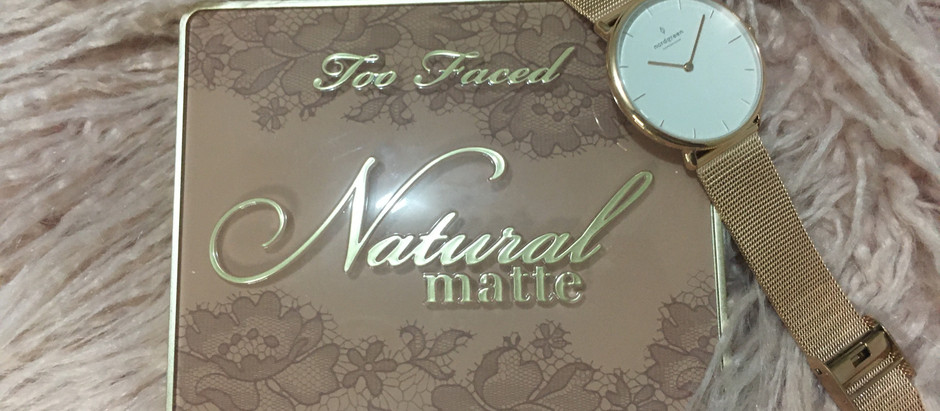 Too Faced Natural Matte Palette Review (Collaboration With Nordgreen Watches)