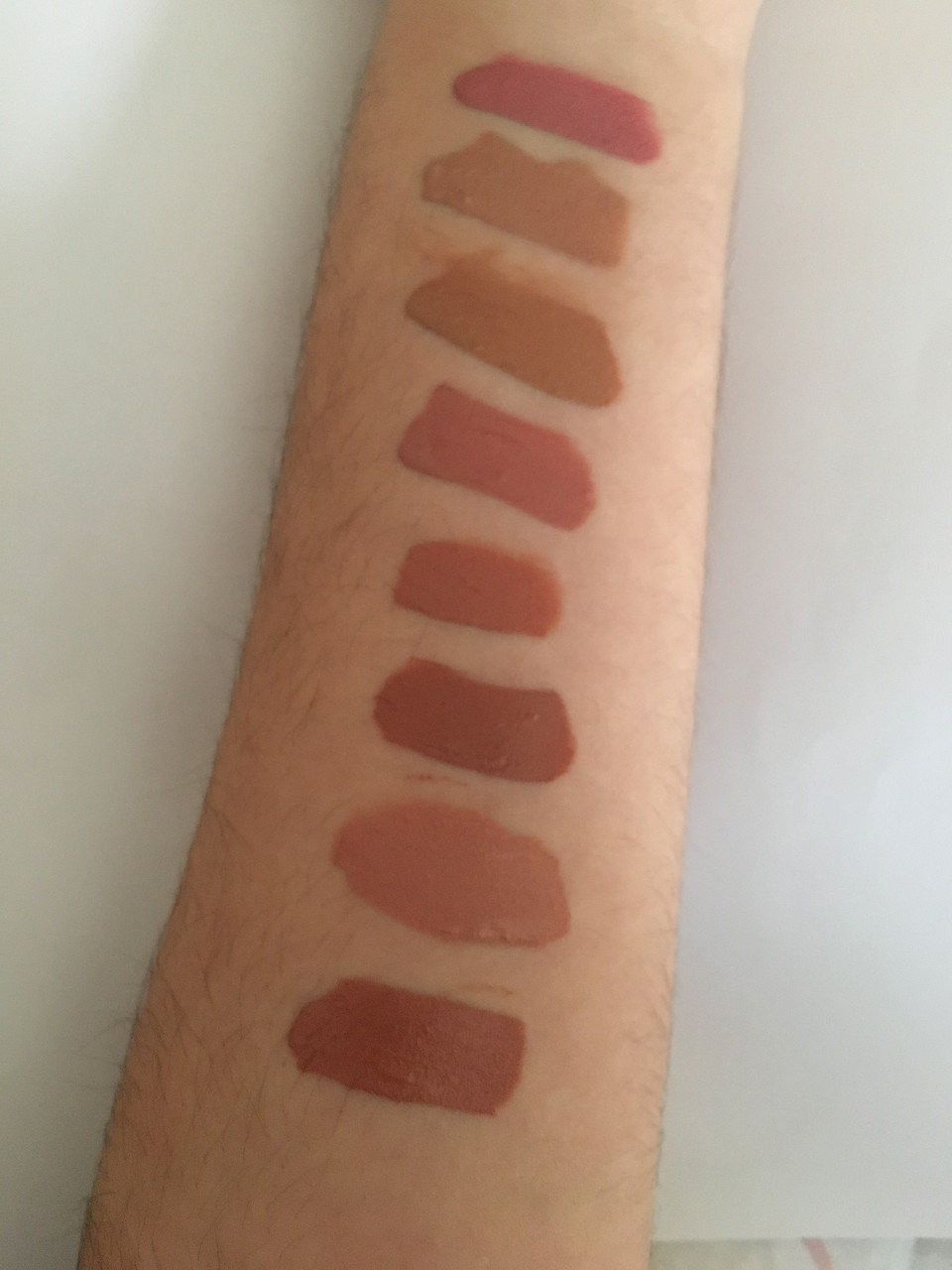 From Left To Right: KYLIE, Birthday Suit, Naked, Bare, Commando (matte), Khlo$, French Kiss, Commando (velvet)