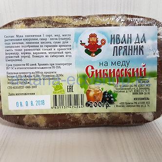 """""""Иван да Пряник"""" сибирский на меду (без сахара) 200гр"""