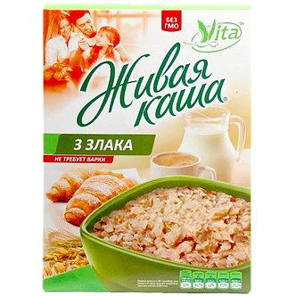 """Живая каша """"Vita"""" """"3 злака"""" пророщенное зерно 300гр кор"""