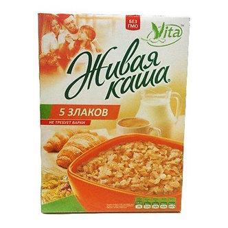 """Живая каша """"Vita"""" """"5 злаков"""" МИКС пророщенное зерно+хлопья 300гр кор"""