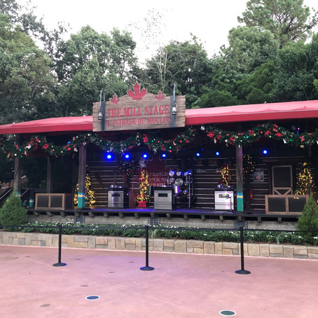 Christmas Decorations Pop Up at EPCOT