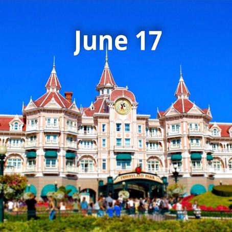 Disneyland Paris to Reopen June 17