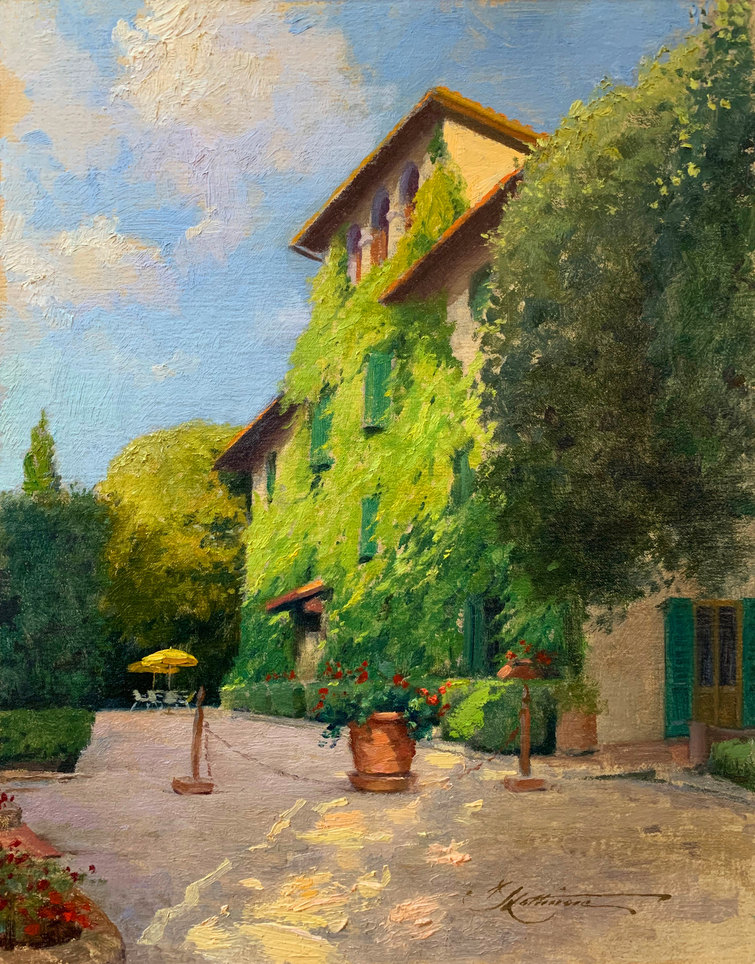 Sunrise at Villa Le Barone, Tuscany