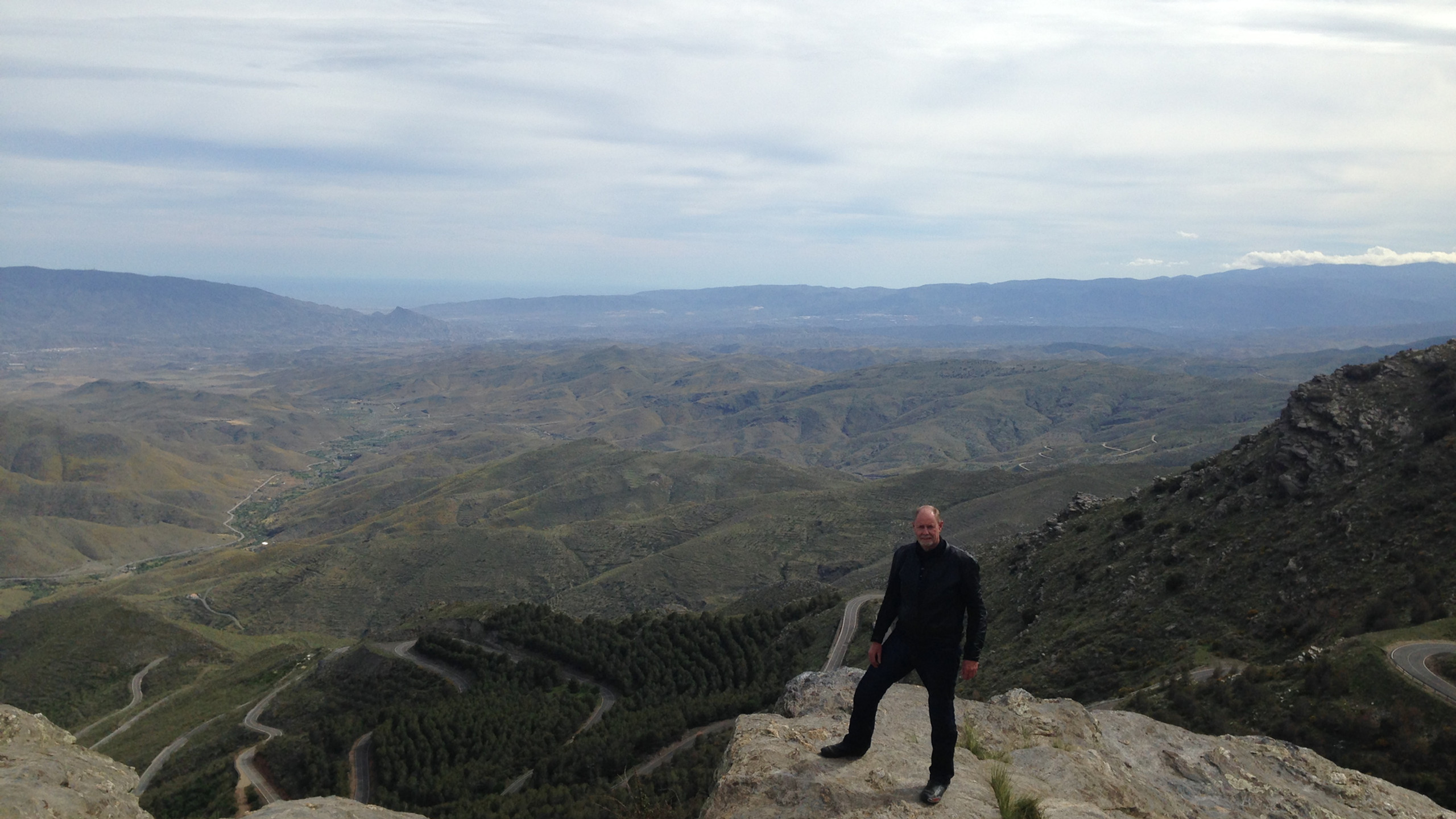 Graham viewing one of the many stunning landscapes across Andalucia