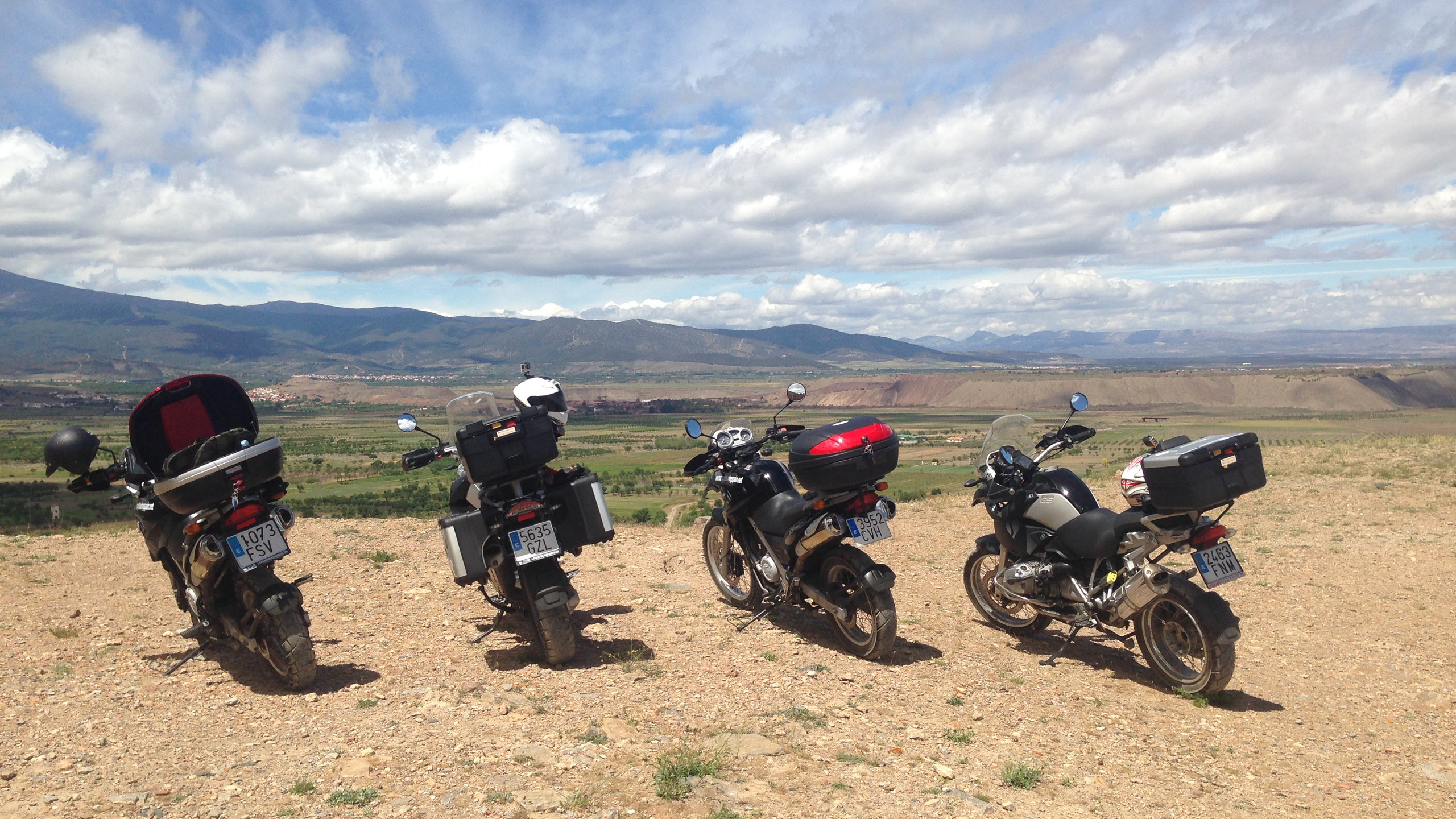 A selection of available bikes to hire at GS Motorcycle Tours