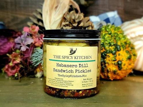Habanero Dill Sandwich Pickles