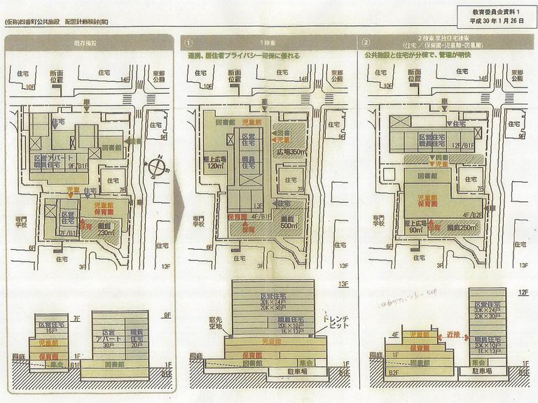四番町公共施設配置計画検討(案)H30年1月26日教育委員会資料