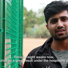 Recovery by a professional cricketer