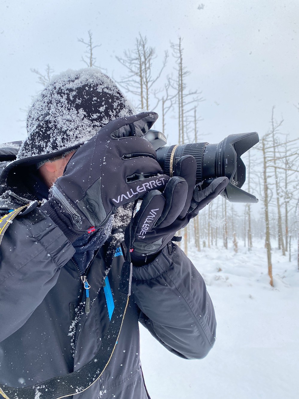 Using a lens hood has several benefits. During a snowfall it prevents the front element from getting wet
