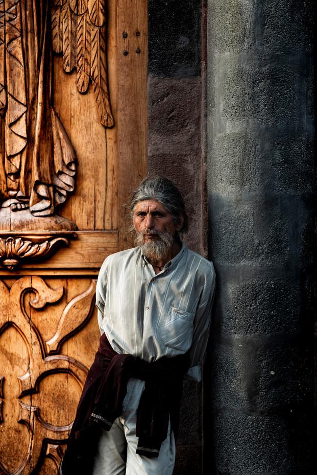 MAN AT THE CHURCH