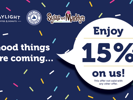 15% OFF FOR ALL - Life is Sweet!