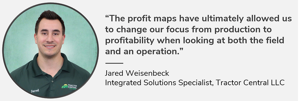 """Jared Weisenbeck says, """"The profit maps have ultimately allowed us to change our focus from production to profitability when looking at both the field and an operation."""""""