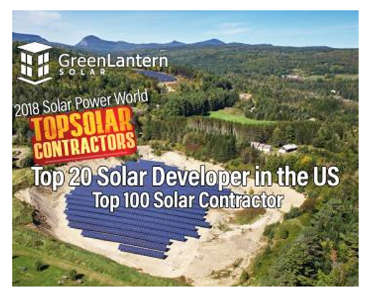 Green lantern Solar Recognized as  Top Solar Contractor and Developer