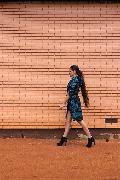model walking in high heels