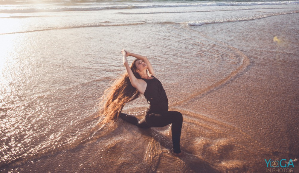 Crescent Moon Yoga Pose